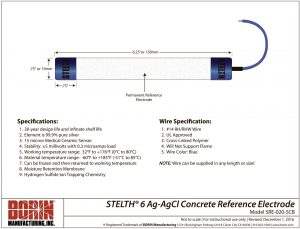 STELTH 6 Silver Reference Electrodes | Drawing | BORIN
